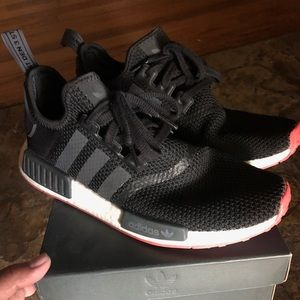 Adidas NMDs r1 black and red